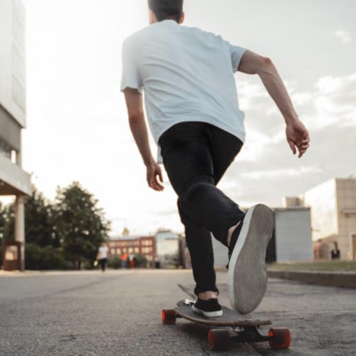 A guy on a skateboard