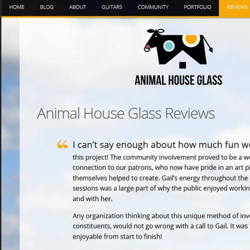 Happy customer reviews on an artist website