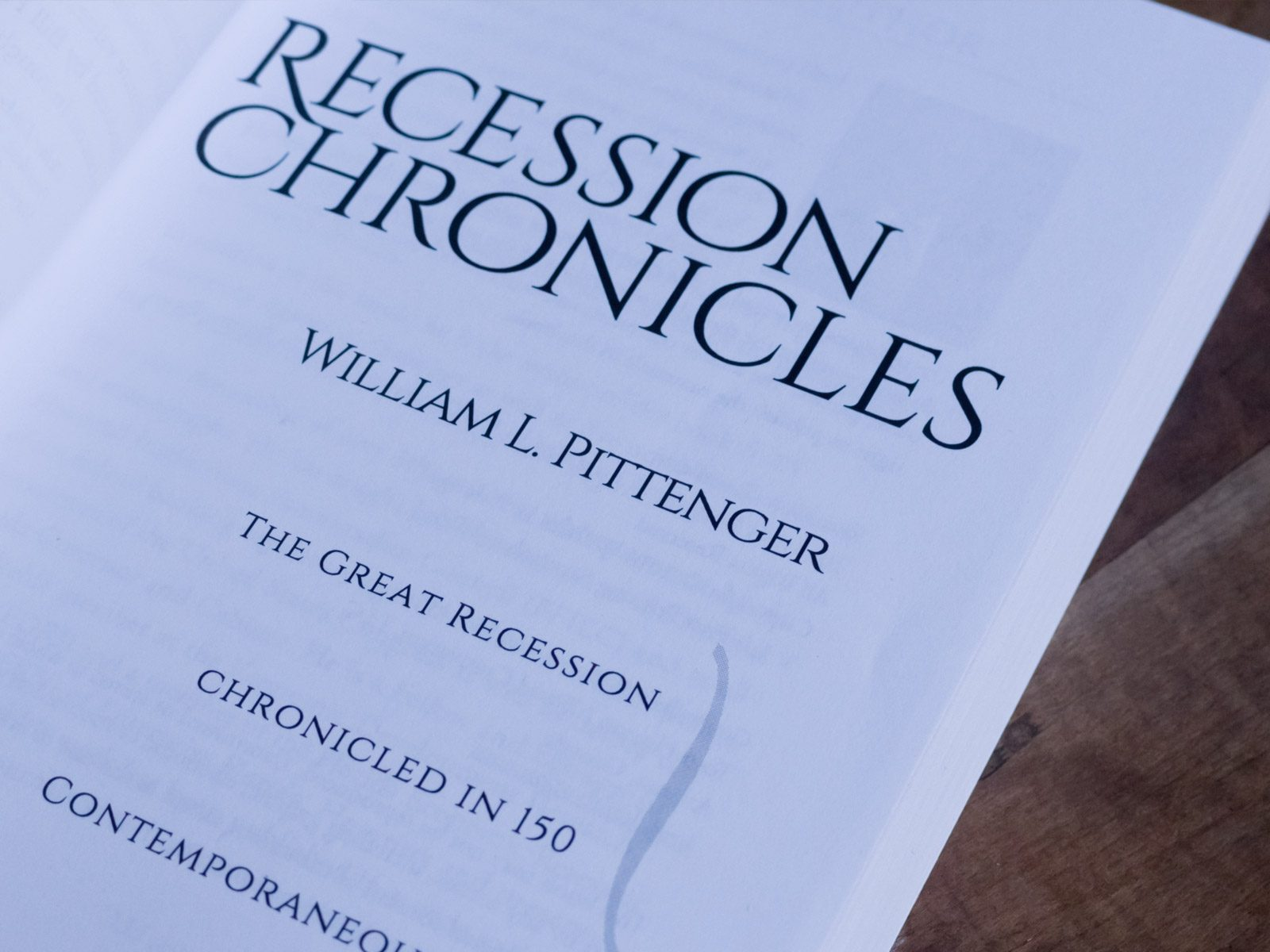 Title Page from Recession Chronicles Book