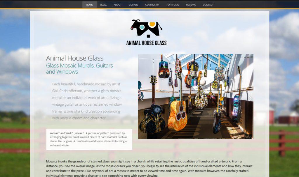 Mosaic artist custom-built WordPress website design